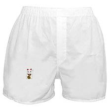 White Maneki Neko Boxer Shorts