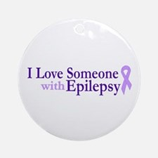 Love Someone with Epilepsy Ornament (Round)