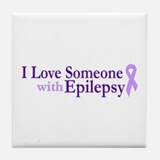 Love Someone with Epilepsy Tile Coaster