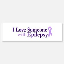 Love Someone with Epilepsy Bumper Bumper Bumper Sticker