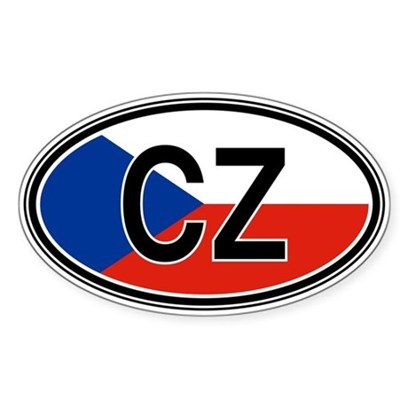 Czech Repbulic Euro Oval Sticker