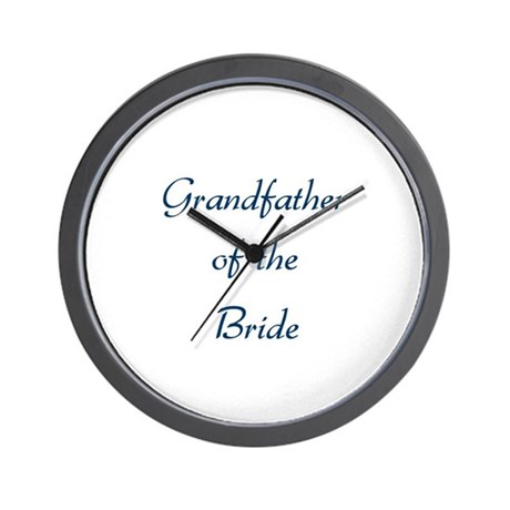 Grandfather of the Bride Wall Clock