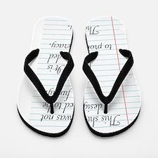 Promoting Literacy Flip Flops