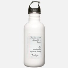 Promoting Literacy Water Bottle