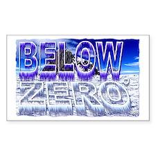 below zero Decal