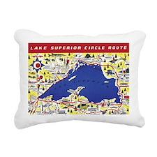 LSCircle_PrintFramed Rectangular Canvas Pillow