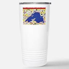 LSCircle_PrintFramed Stainless Steel Travel Mug