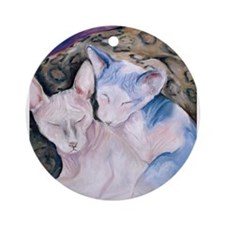 The Hairless couple Ornament (Round)