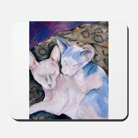 The Hairless couple Mousepad
