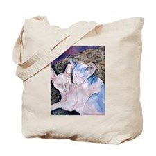 The Hairless couple Tote Bag