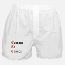 Courage To Change Boxer Shorts