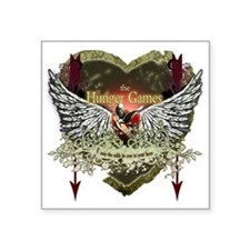 "the hunger games heart wing Square Sticker 3"" x 3"""