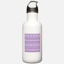 mixed borders purple Water Bottle