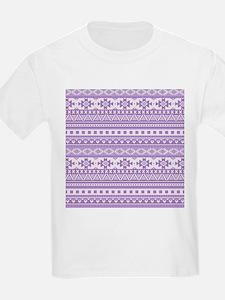 mixed borders purple T-Shirt
