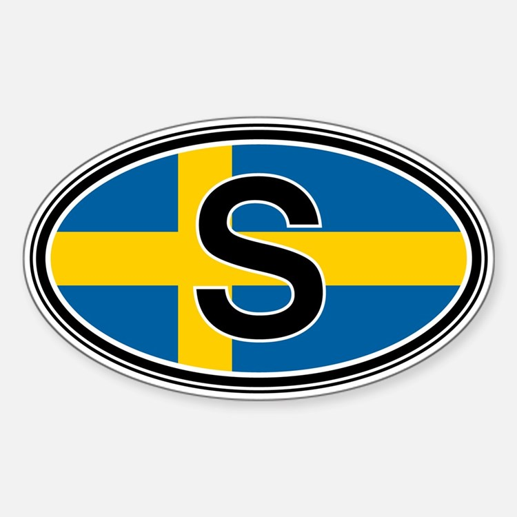 Sweden Euro Oval Stickers