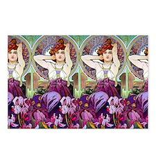 Clutch Mucha Amethyst Postcards (Package of 8)
