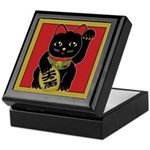 Black Maneki Neko Keepsake Box