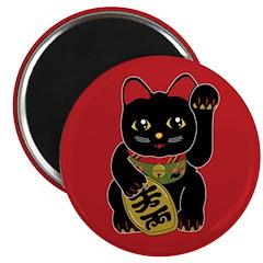 "Black Maneki Neko 2.25"" Magnet (100 pack)"