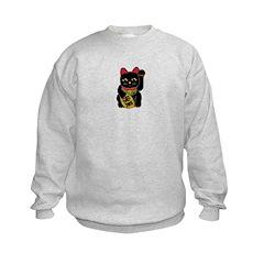 Black Maneki Neko Sweatshirt