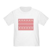 mixed borders pink T-Shirt