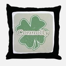 """Shamrock - Connolly"" Throw Pillow"