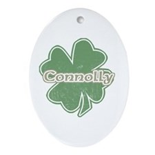 """Shamrock - Connelly"" Oval Ornament"