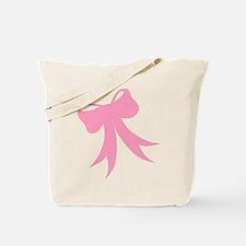 Pretty Pink Bow Tote Bag