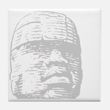 Black history, Olmec head Tile Coaster