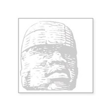 "Black history, Olmec head Square Sticker 3"" x 3"""