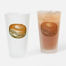 Bagel and Cream Cheese Drinking Glass