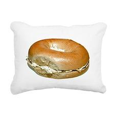 Bagel and Cream Cheese Rectangular Canvas Pillow