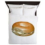 Bagel and Cream Cheese Queen Duvet