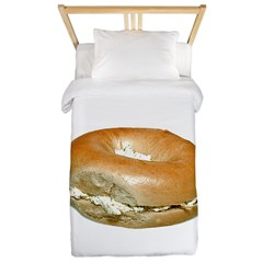 Bagel and Cream Cheese Twin Duvet