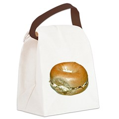 Bagel and Cream Cheese Canvas Lunch Bag