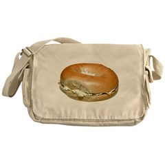 Bagel and Cream Cheese Messenger Bag