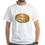 Bagel and Cream Cheese White T-Shirt