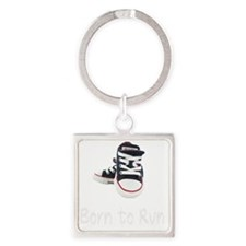 Born To Run_boy_wht Square Keychain