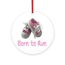 Born to Run_Girl Round Ornament