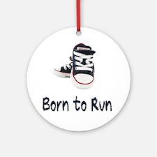 Born To Run_boy Round Ornament