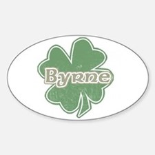 """Shamrock - Byrne"" Oval Decal"