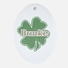 """Shamrock - Burke"" Oval Ornament"