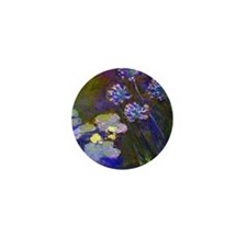 Pillow Monet Lilies  Aga Mini Button