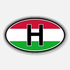 Hungary Euro Oval Decal