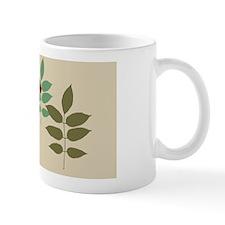 sprigofleavesTanPcase Mug