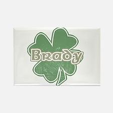 """Shamrock - Brady"" Rectangle Magnet"