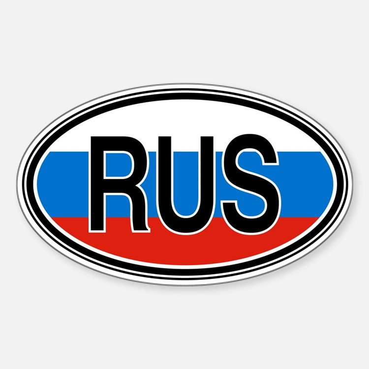 Russia Euro Oval Decal