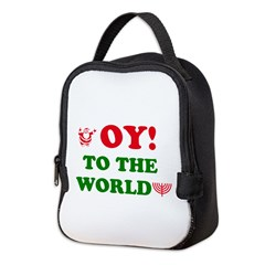 Oy To the World Neoprene Lunch Bag
