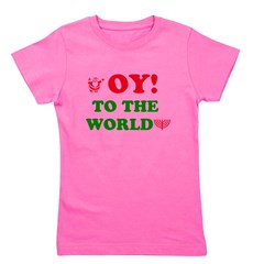 Oy To the World Girl's Tee