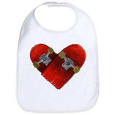 Love longboard red Bib