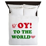 Oy To the World Queen Duvet